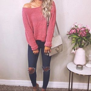 Off the Shoulder/Wide Neck A&F Sweater
